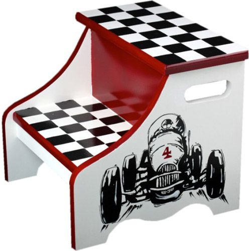 retro racer step stool from poshtots my kids rooms pinterest