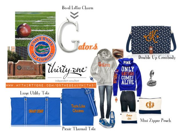 """Florida Gators & Thirty-One"" by tjisdiva1 on Polyvore featuring Aéropostale, Dayna U, Siwy and The Bradford Exchange"