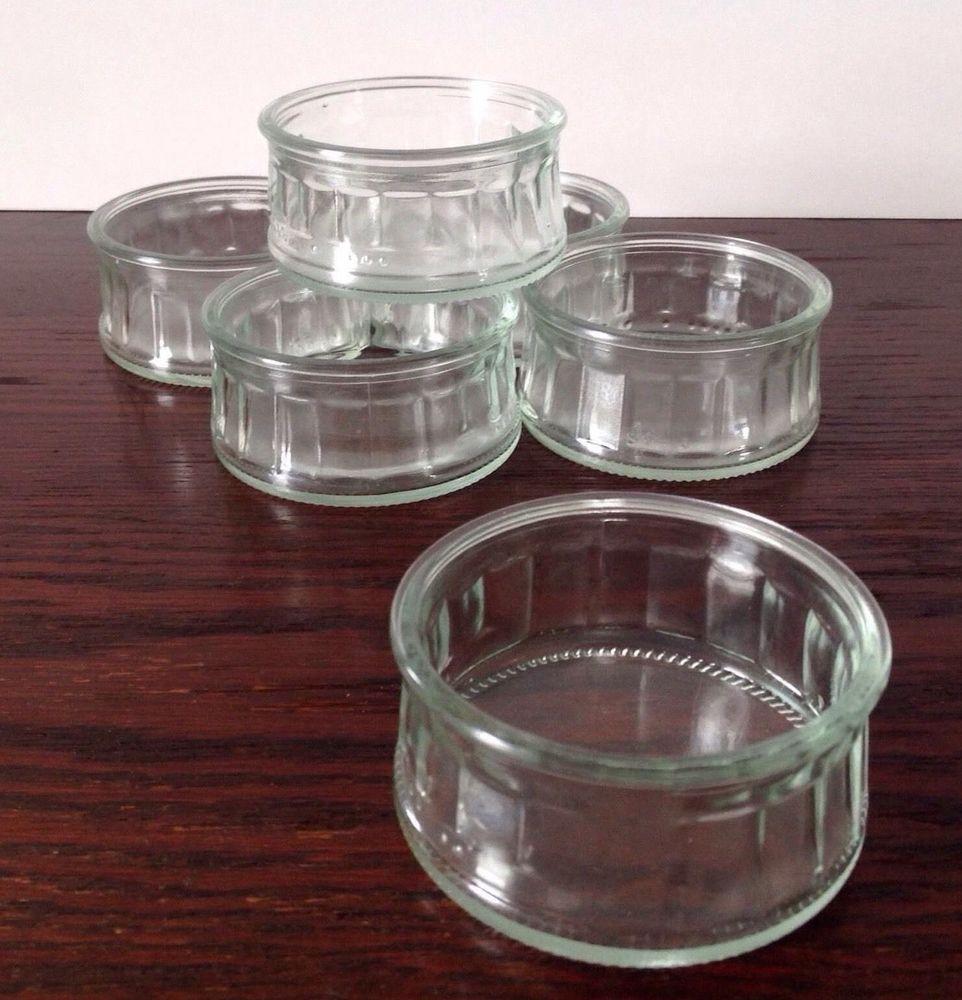 SET OF 6 GLASS RAMEKINS
