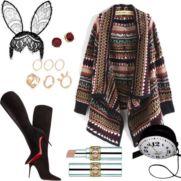 Halloween mood by yoliemw on Polyvore featuring polyvore, fashion, style, Christian Louboutin, Kate Spade, Lauren Ralph Lauren and Topshop