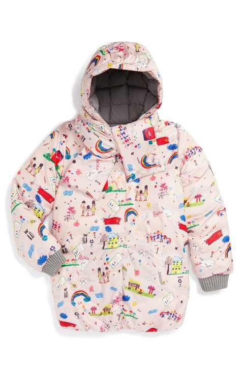 Dolce&Gabbana 'Disegni Bambina' Print Puffer Jacket (Toddler Girls, Little Girls & Big Girls)