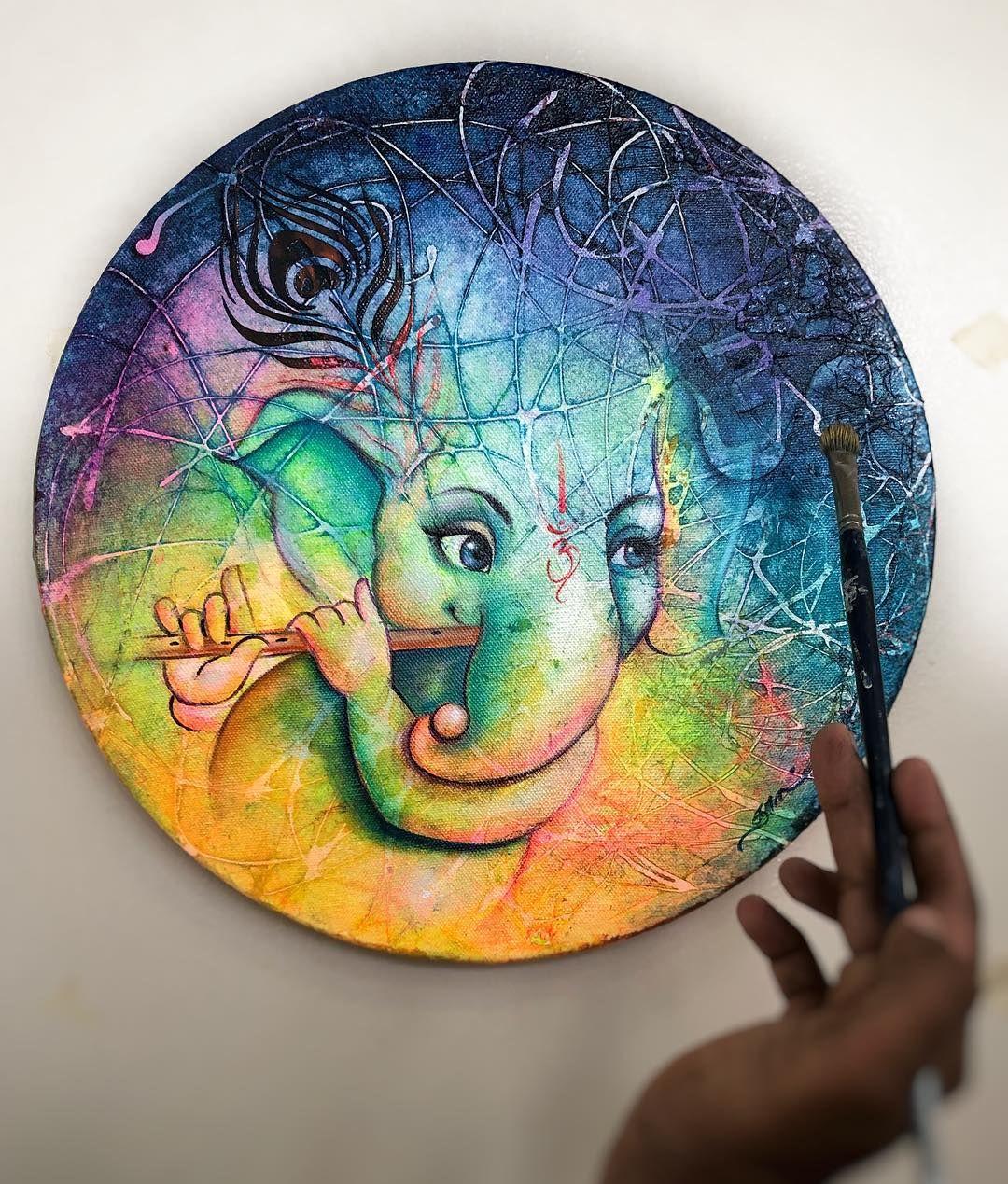 Art Modern Ganesh Sketch