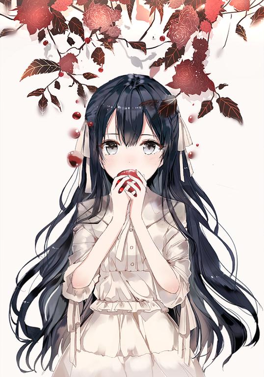 Apple [Original] : awwnime | Anime/[Original] in 2019 ... Anime Child With Black Hair