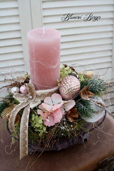 Weihnachtsdeko - :::: Adventsdeko  Shabby Chic  :::: - ein Designerstück von BlumereiBerger bei DaWanda #julkrans