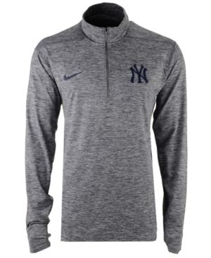 89ff93f4 Nike Men's New York Yankees Dry Element Half-Zip Dri-fit Pullover - Gray XXL