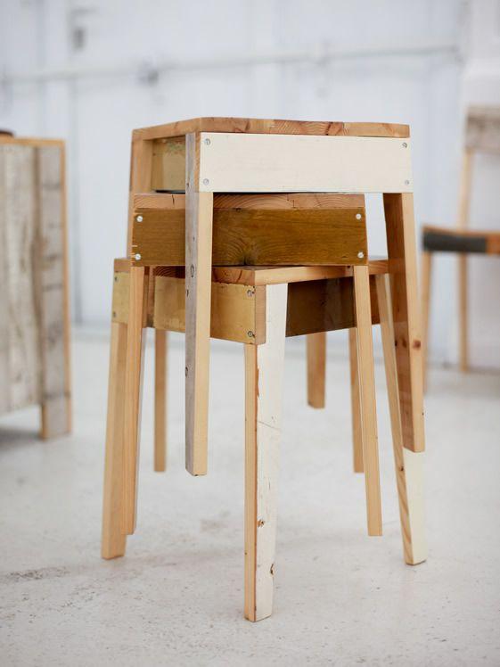 Piet Hein Eek - stools Bla Pinterest Piet hein eek, Stools and