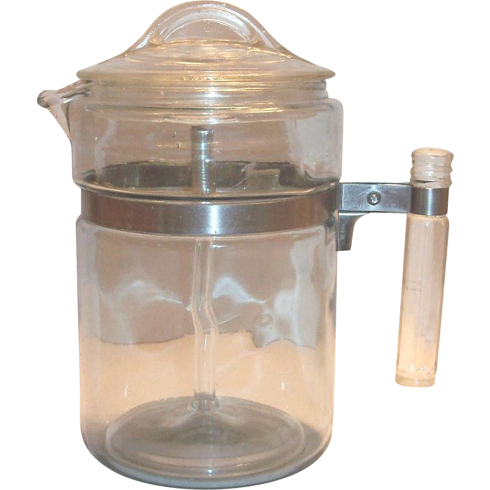 Pyrex 1940 S 50 S Flame Ware Glass Percolator Coffee Pot Percolator Coffee Vintage Pyrex Glass Best Coffee Grinder
