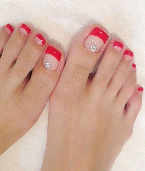 beautiful toe nail wedding nail design