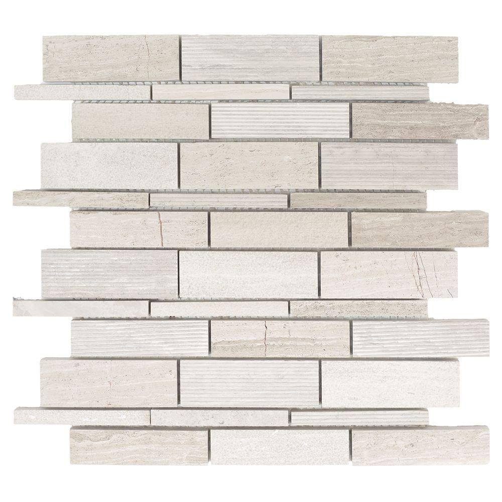 Jeffrey Court Tranquil Stone 10.75 in. x 12.875 in. x 9.5 mm ...