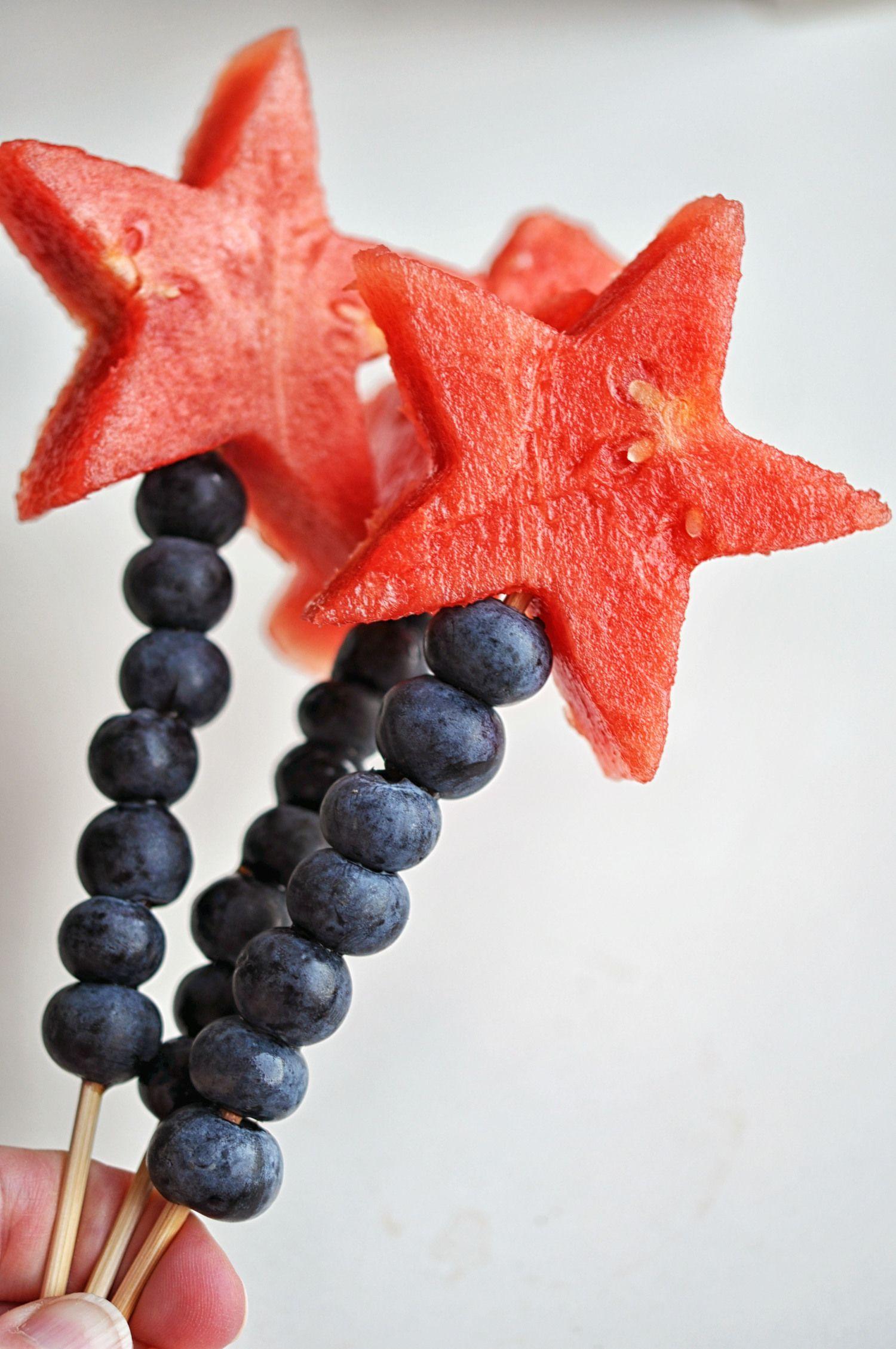 Watermelon Blueberry Sparklers