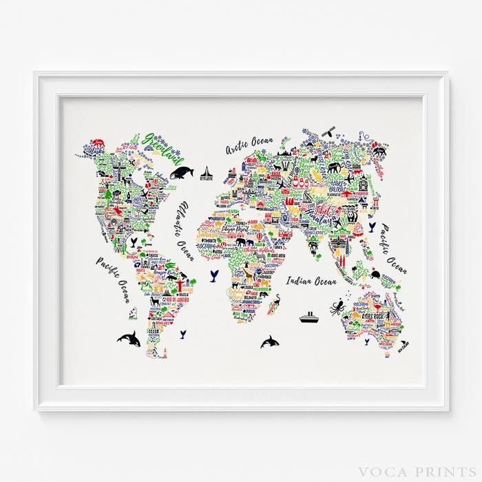 Typography world map type 1 map wall decor worldmap and wall dcor typography world map type 1 gumiabroncs Gallery