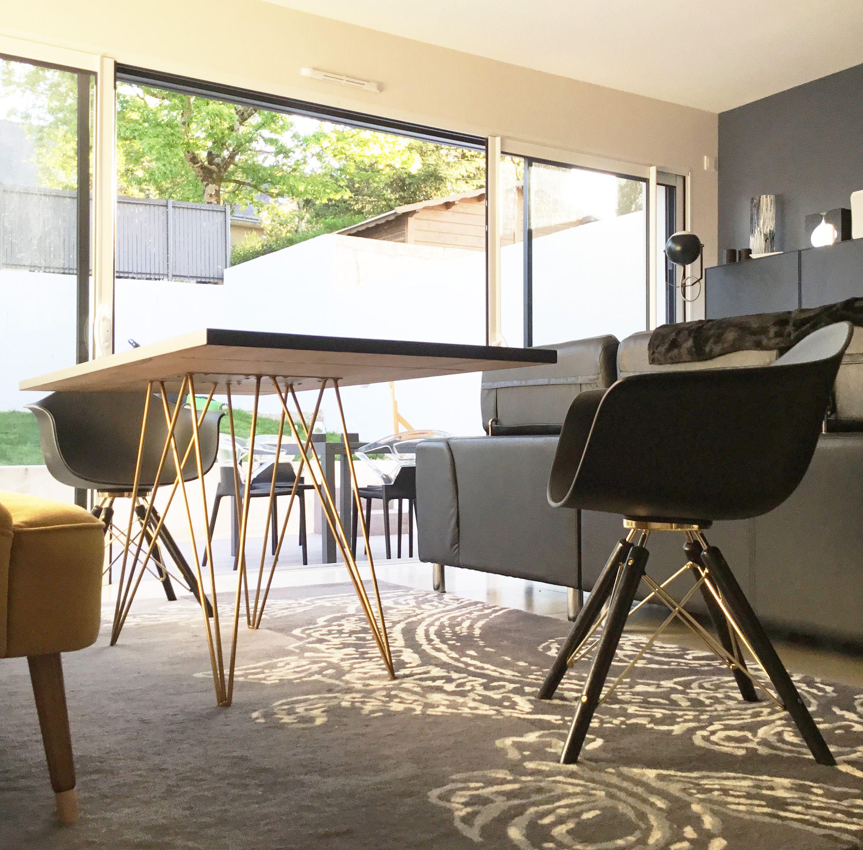 Pied De Table Double 71cm Hairpin Legs La Fabrique Des Pieds Deco Murale Chambre Bebe Meubles Art Deco Mobilier De Salon