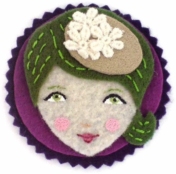 Cute Face Handmade Felt Magnet