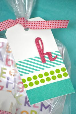 Little Birdie Secrets: easy washi tape gift tags {favorite things}