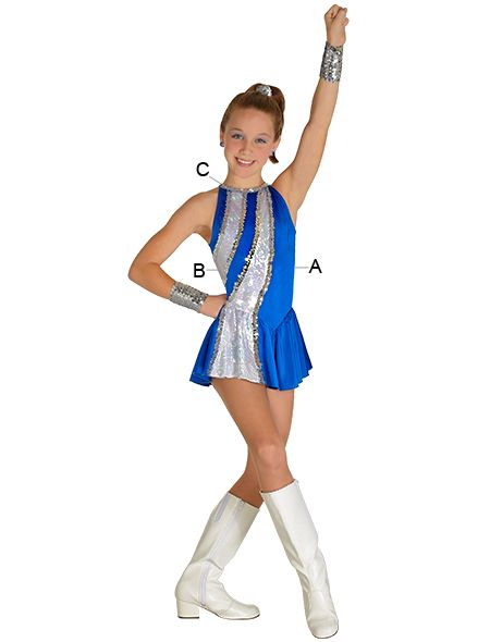 fd914a7154af Majorette Costume (Waterfall Dress) | Drum and Lyre Uniforms | Dance ...