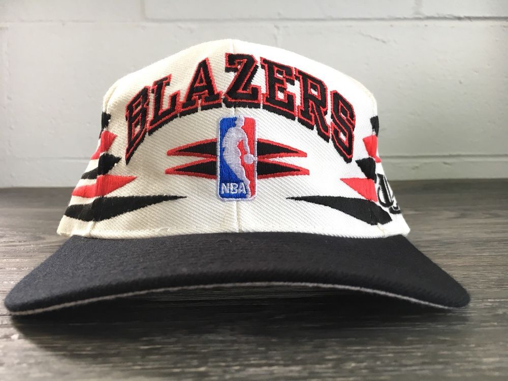 c768d9e1dbf Trail Blazers Hat Vtg 90s Logo 7 Snapback Nba Rip City Portland Rare Arrows  Sewn  DKNY  BaseballCap
