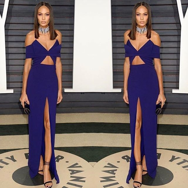 Fashion fan blog from industry supermodels: Joan Smalls - At the @vanityfair Oscar party last ...