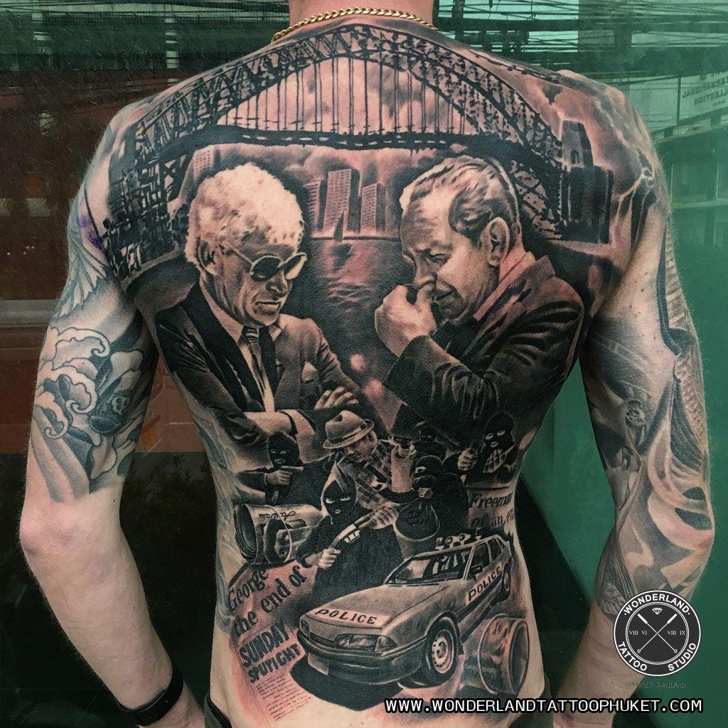 Australia gangster theme tattoo freeman and lennie