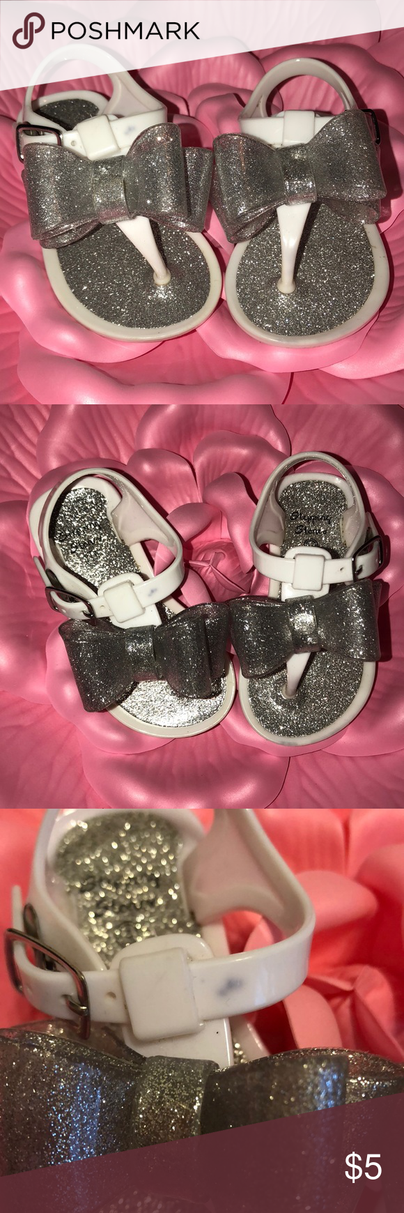 ffd2ca06ded2 Toddler girls glitter jelly sandals size 4 Still in great condition! Small  stain on top of right sandal (see pic) The Children s Place Shoes Sandals    Flip ...