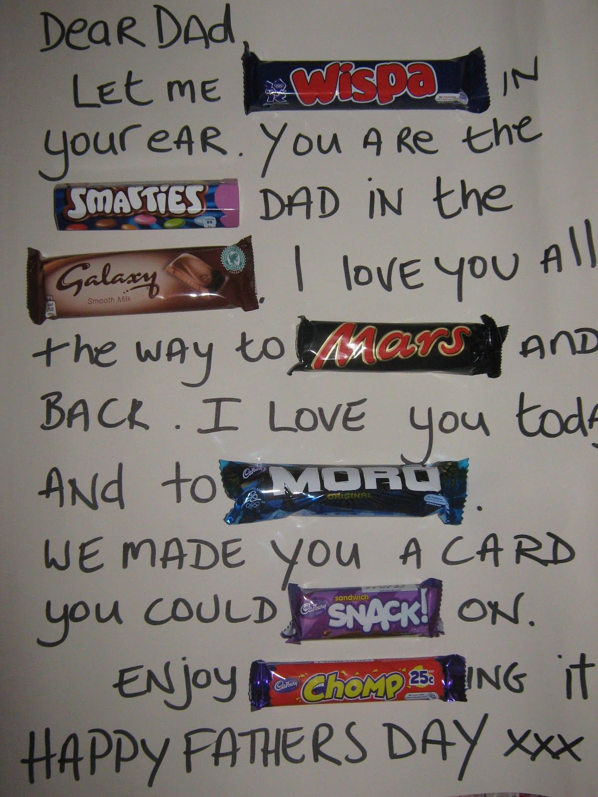 Easy peasy fathers day card with lots of chocolate abbyus pin