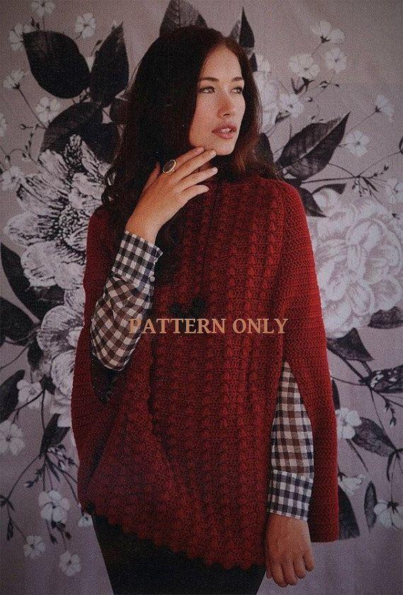 Crochet Pattern Elegant Crochet Cape Jacket Smmedlg1x2x3x