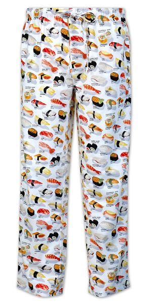 "The Cat's Pajamas Men's ""Sushi"" Poplin Pajama Pant in ..."