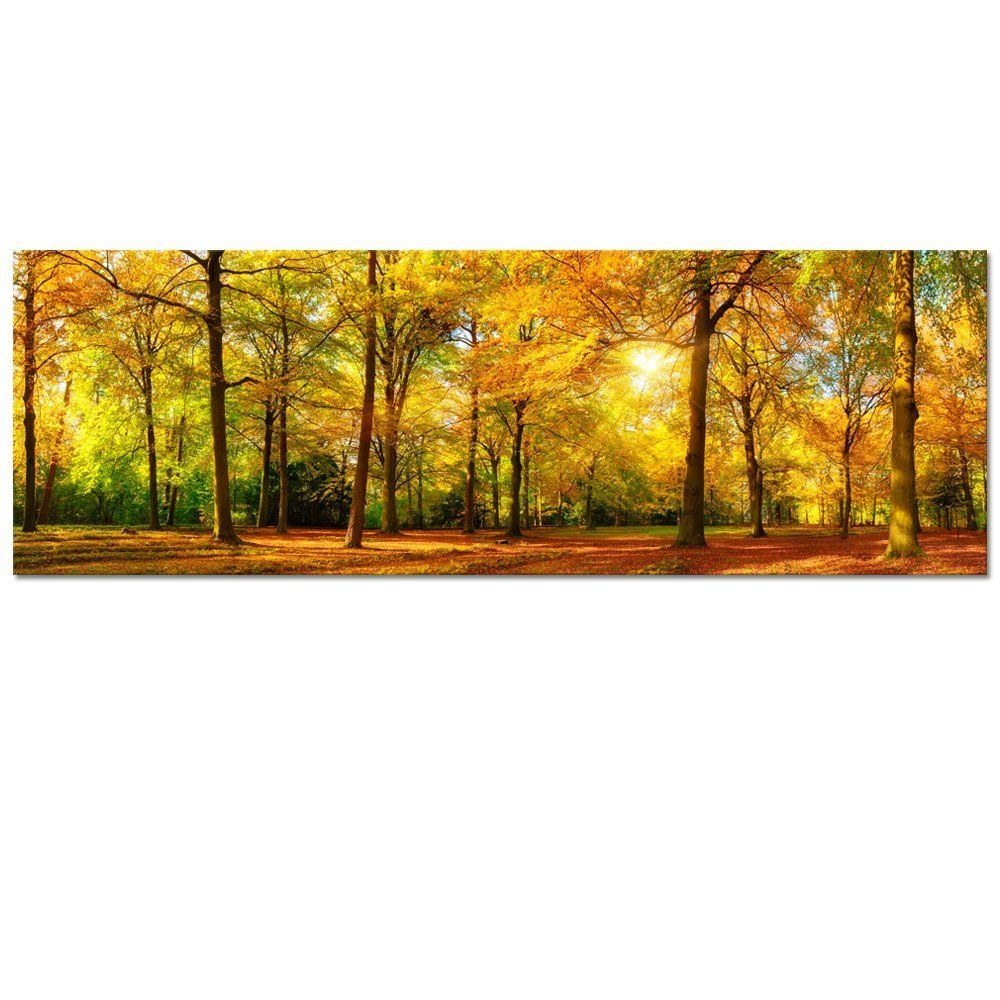 Large Autumn Forest Canvas Wall Art Prints,Autumn Tree Forest ...