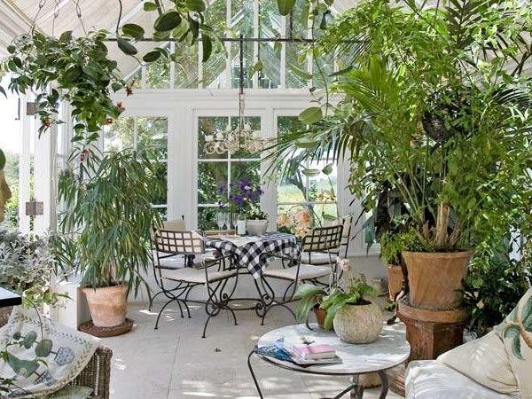 Pflanzen-wintergarten-ideen-bodenfliesen-eisen-moebel | Homeideas ... Pflanzen Wintergarten Design Ideen