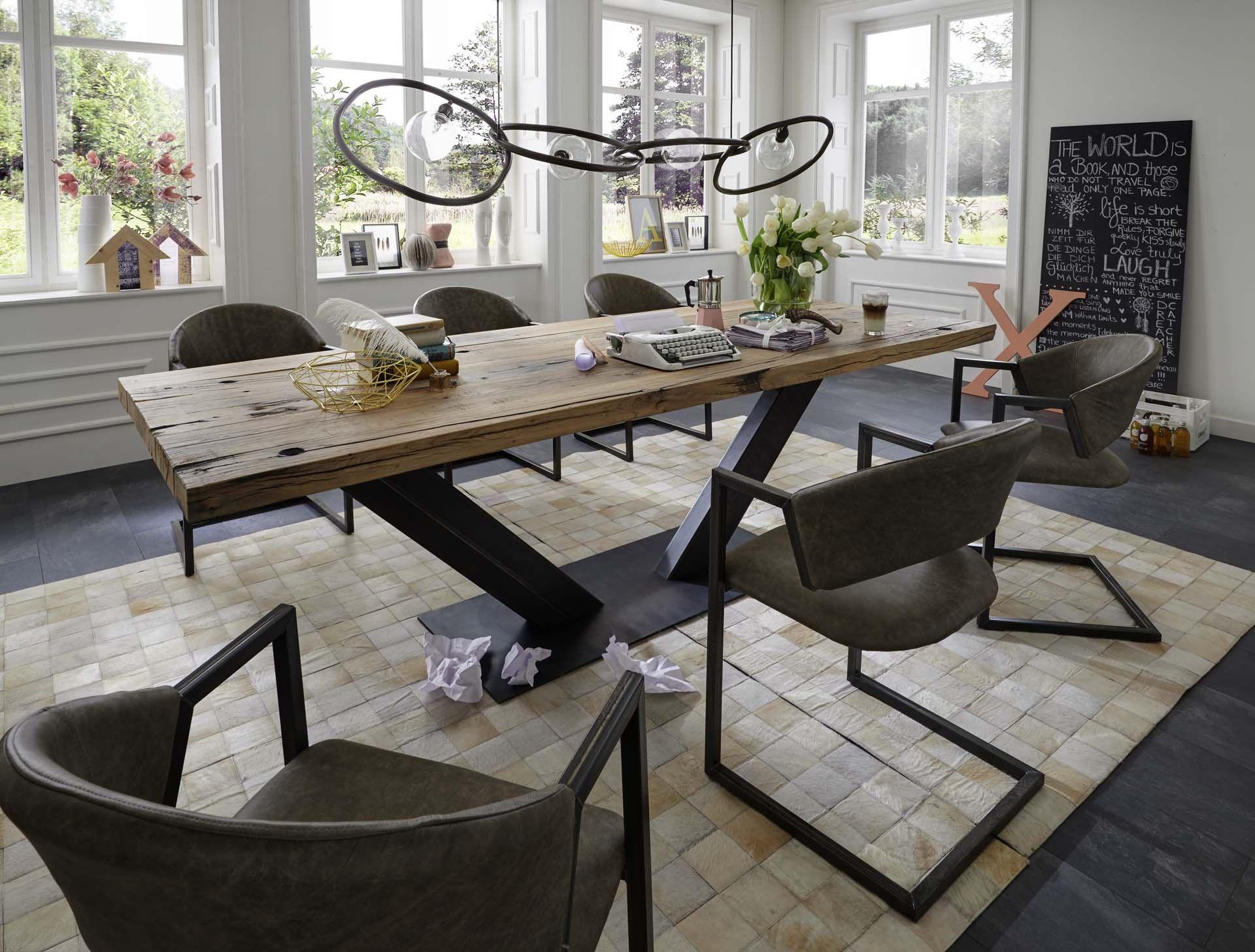 Esstisch eiche rustikal  Erleben Sie einen Esstisch den es kein zweites mal gibt! | Ideen ...