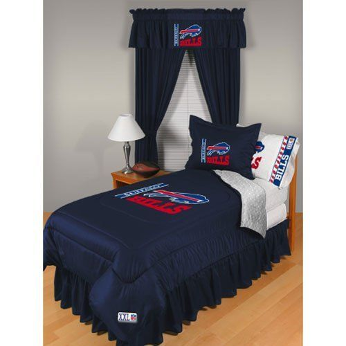 Buffalo Bills Nfl Locker Room Collection Bed Complete Set By Sports Coverage 218 87 This Special Order Can N Bedding Collections Bed Comforters Comforters