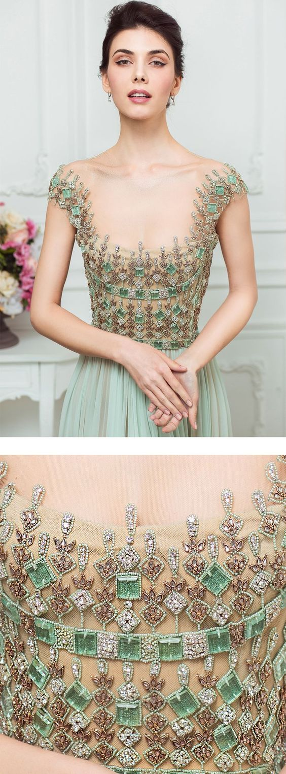 Reem acra bedazzled gowns oh such beautiful gowns pinterest