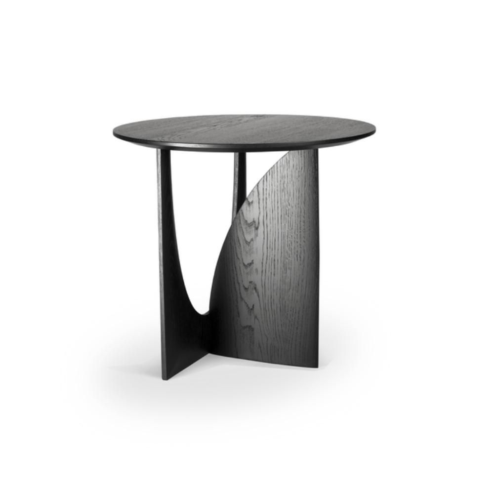 Ethnicraft Oak Geometric Side Table Geometric Side Table Tea Table Design Geometric Furniture
