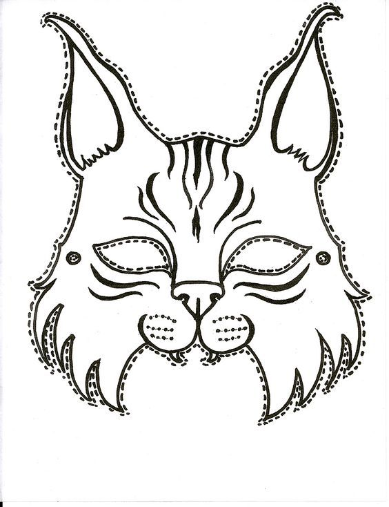 Printable Bobcat mask for the next big game.: | School use ...