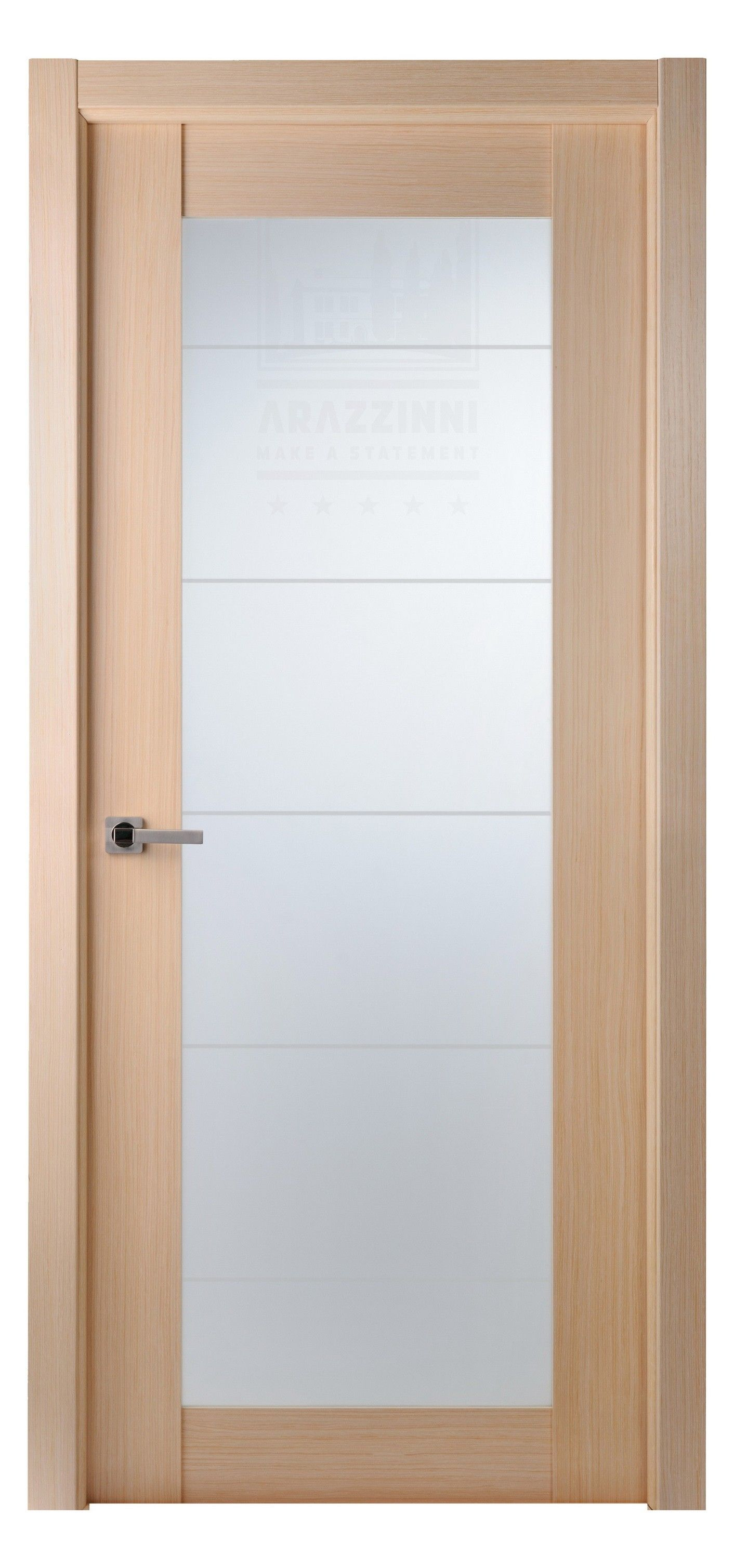 maximum 209 interior door in a bleached oak finish with frosted glass exotic wood veneer doors. Black Bedroom Furniture Sets. Home Design Ideas