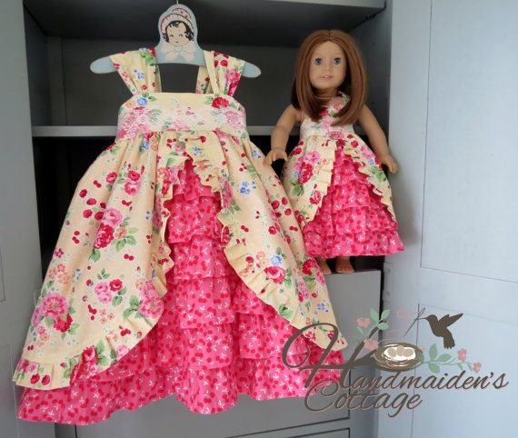 Me and My Dolly Tea Party Dresses Ready to by HandmaidensCottage