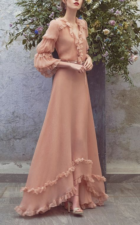 Photo of Flounce Full Length Dress  by Luisa Beccaria   Moda Operandi