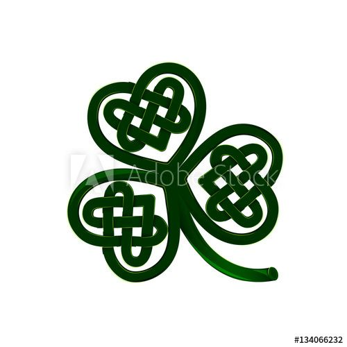 Abstract three leaves clover on white background   Irish
