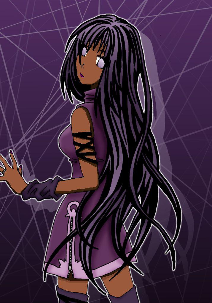 Anime Purple Web Girl