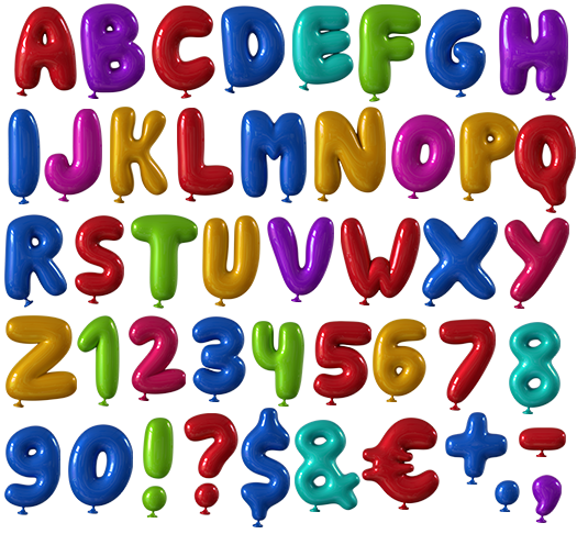 Happy Birthday Typography Png ~ Happyballoon  pinterest fonts typo and typography
