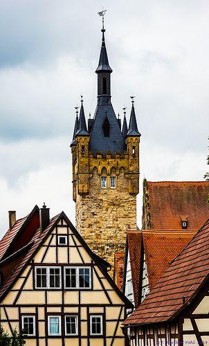 Bad Wimpfen Ehemalige Mittelalterliche Stauferpfalz Am Neckar Im Kraichgau Nordlich Von Heilbronn Blauer Turm Der Kaiserpfalz Germany Travel Germany European Architecture