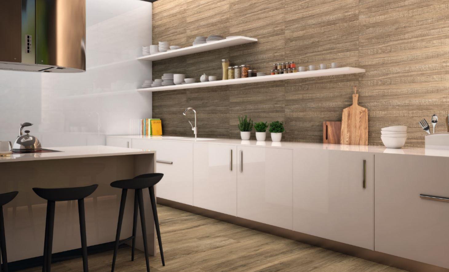 Durstone luminar houtllook tegel voor je keuken. tegels voor je