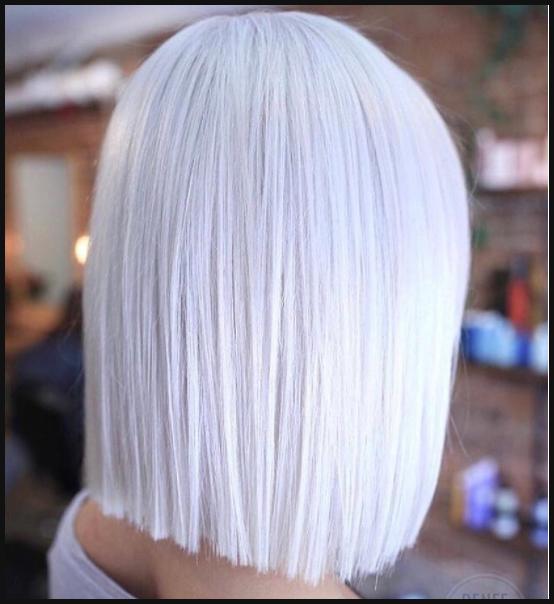 1 Icy Blond Mittellang Frisur Frisuren Pinterest Mittellange