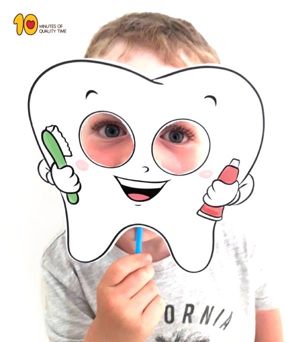 Zahnmaske druckbare Vorlage   – Grooming Hygiene Fashion