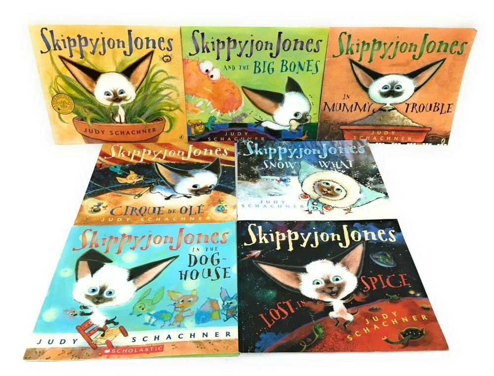 Lot 7 Skippyjon Jones Books Judy Schachner Spice Mummy Cirque De