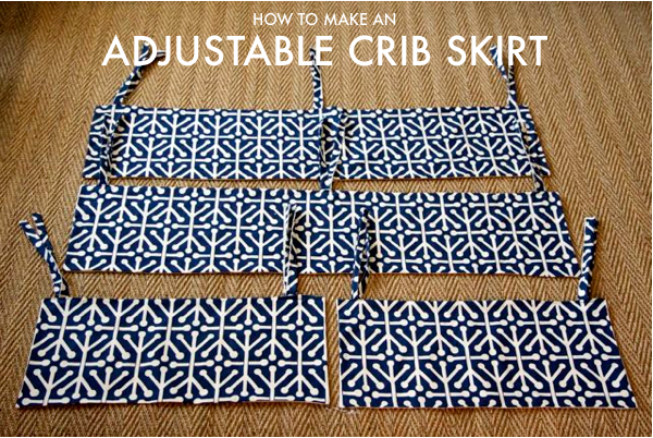 How To Make Adjustable Crib Skirt Panels For A Baby Mod Olivia Crib Stunning Crib Skirt Pattern