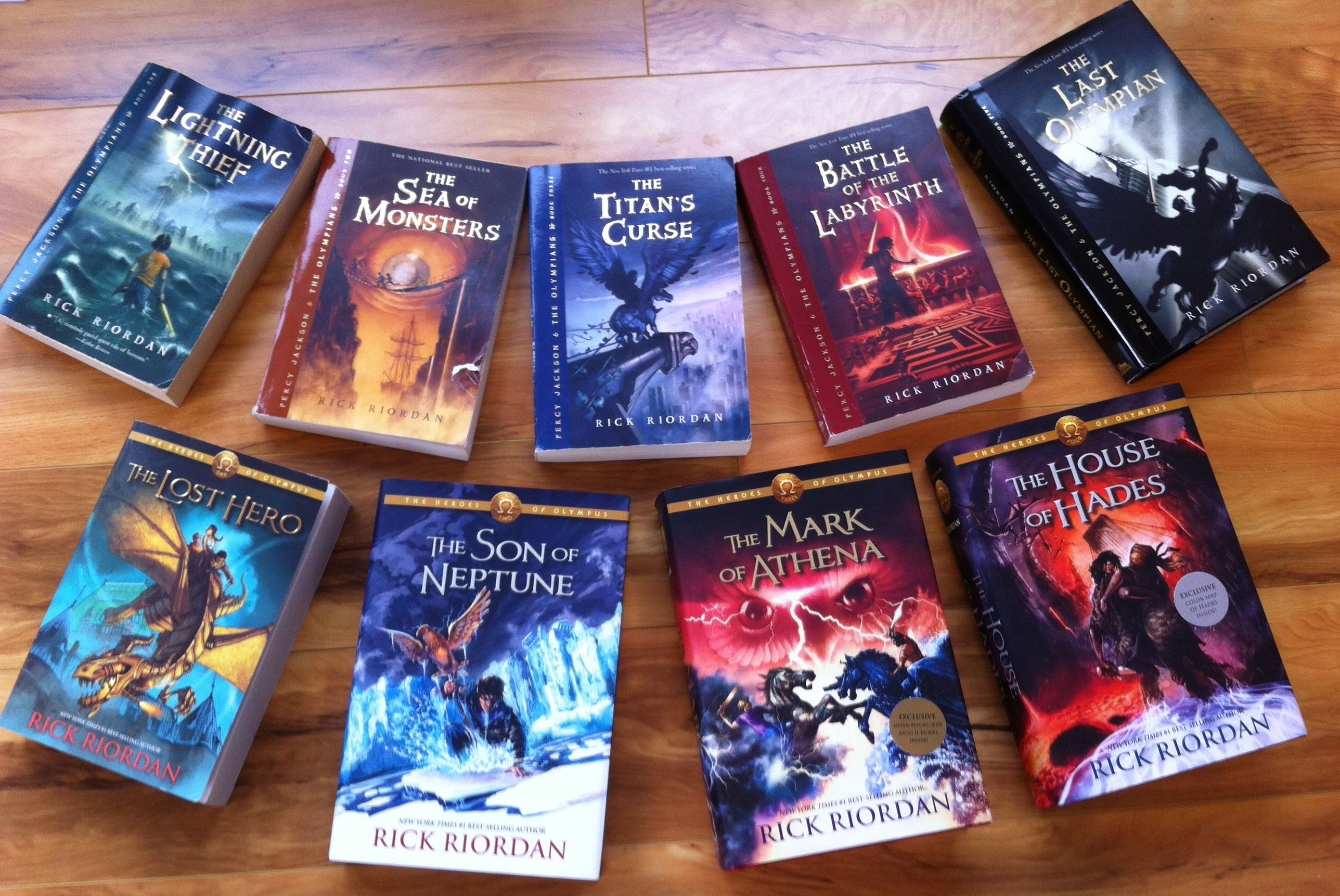 All Books 1 9 Percy Jackson Books Rick Riordan Books Best Book Covers