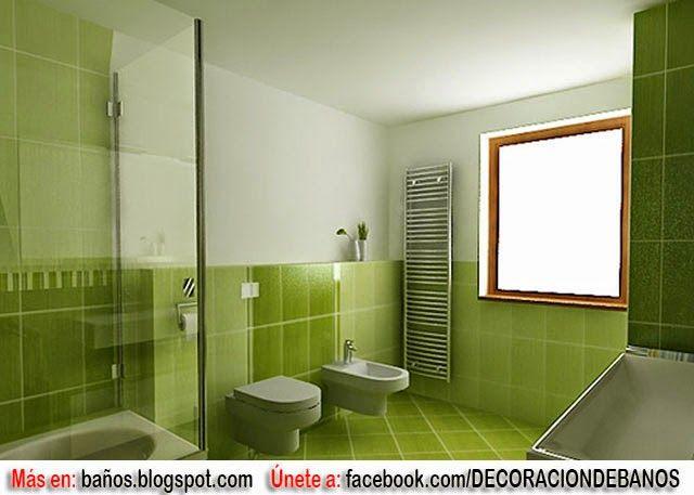 BAÑOS EN TONOS VERDES : BAÑOS: Fotos de baños - Videos de ...