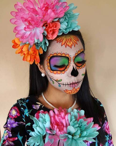 Photo of 23 Sugar Skull Makeup Ideas for Halloween | Page 2 of 2 | StayGlam