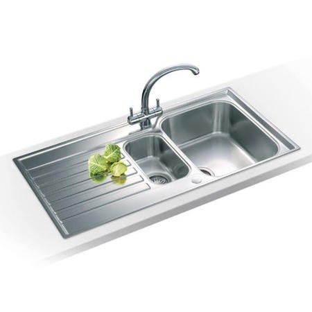 Awesome Franke ASX 651 Ascona 1.5 Bowl Reversible Stainless Steel Sink 101.0305.143  | Appliances Direct