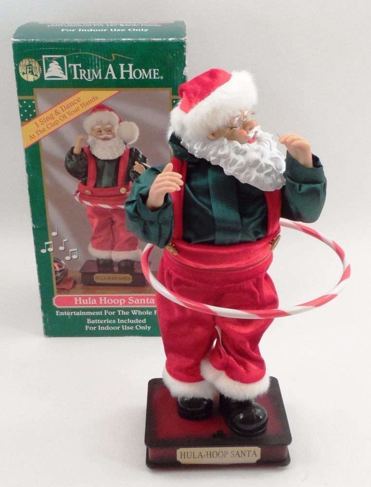 Mib Fun Working Animated Musical Trim A Home Motionette Hula Hoop Santa Claus Fun At Work Hula Hoop Hula